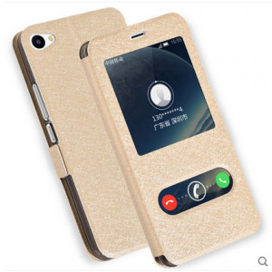 Silk Grain Smart Window Flip Leather Protective Case For Meizu U20