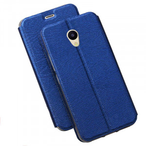 Simple Clamshell Thin Silicone Flip Leather Protective Case For Meizu M5S