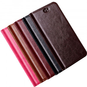 Simple Genuine Leather Cover for Meizu Pro 6 / Pro 6s
