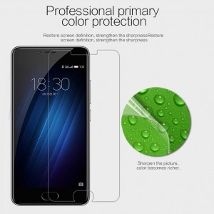 Super Clear Anti-fingerprint Protective Screen Protector For Meizu M3S