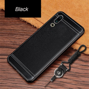 Ultra Thin Litchi Grain Micro Frosted Leather Style Soft TPU Protective Case For MEIZU 16S