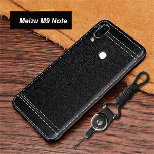 Ultra Thin Litchi Grain Micro Frosted Leather Style Soft TPU Protective Case For Meizu M9 Note