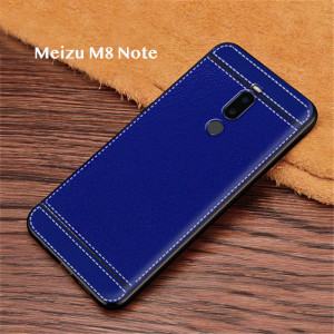 Ultra Thin Litchi Grain Micro Frosted Leather Style Soft TPU Protective Case For Meizu V8/M8/X8/M8 Note