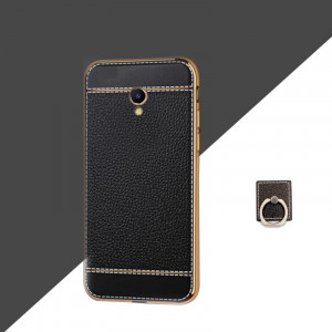 Ultra Thin Plating Bumper Classic Business Leather Grain Soft TPU Protective Case For Meizu M5/M5S/M5 Note