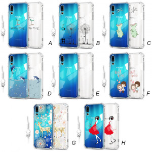 Ultra Thin Transparent Cartoon Soft Silicone Protective Back Case For MEIZU 16S