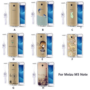 Ultra Thin Transparent Cartoon Soft Silicone Protective Back Case For Meizu M6S / M6 Note / M5 Note/E3