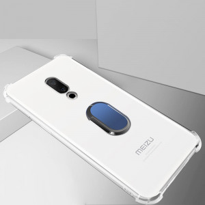 Ultra Thin Transparent Soft TPU Anti-drop Protective Back Case With Ring Holder For Meizu 15/Meizu 15 Plus