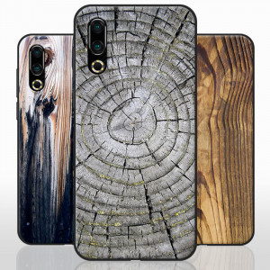 Vintage Wood Grain Series Soft Silicone TPU Protective Case For Meizu 16S
