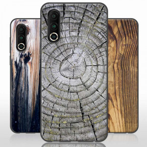 Vintage Wood Grain Series Soft Silicone TPU Protective Case For Meizu 16S Pro