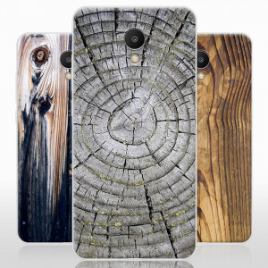 Vintage Wood Grain Series Soft Silicone TPU Protective Case For Meizu M6S