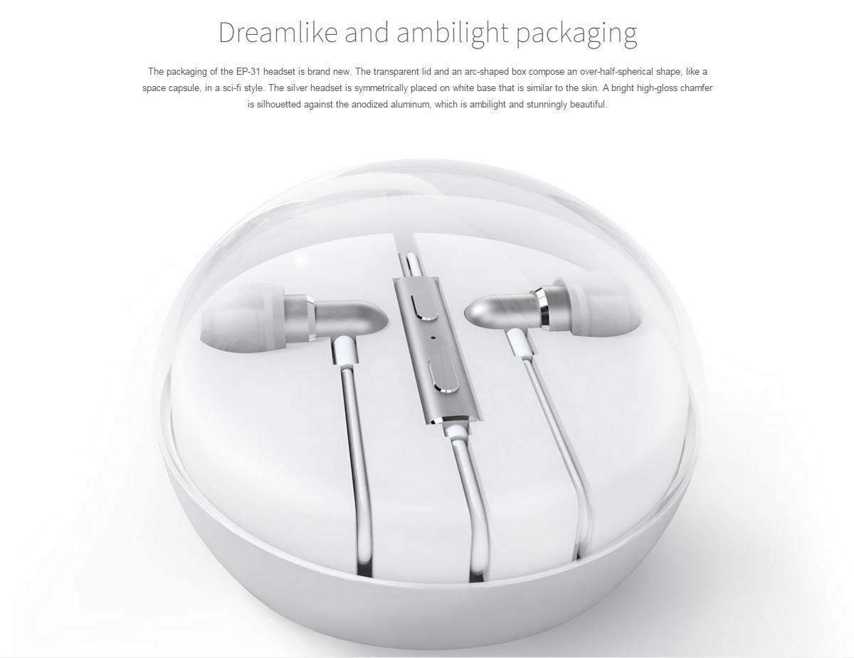 Original Meizu EP-31 Earphone Hifi In-Ear Headphone