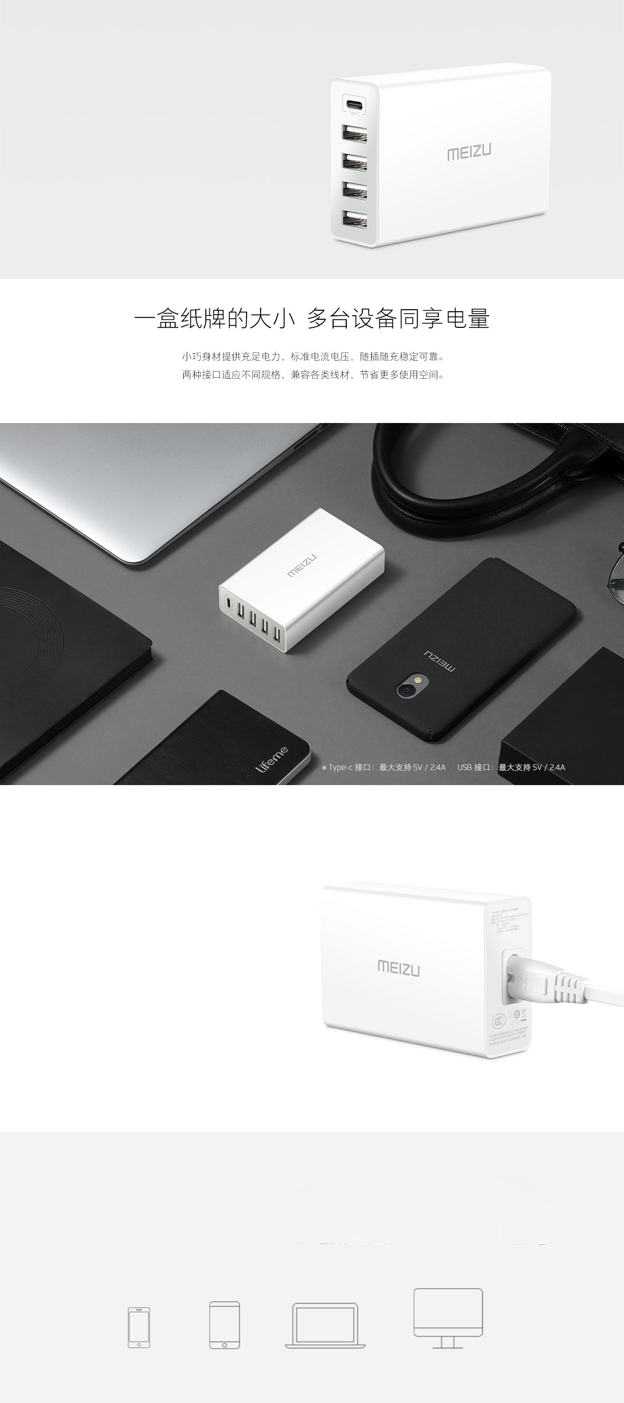 MEIZU USB Charger