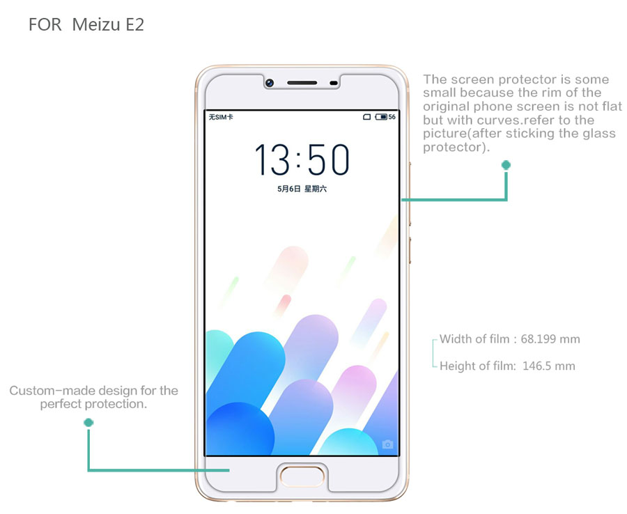 Meizu E2 screen protector